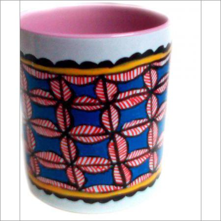 Coffee Mug Madhubani Flower Painting
