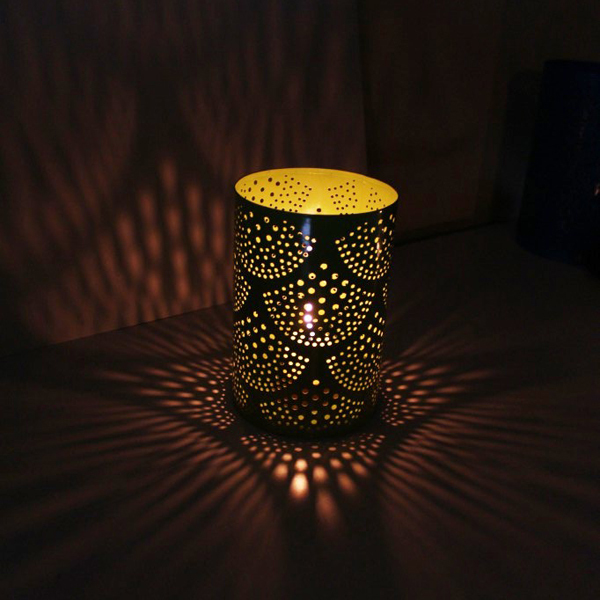 Geometric Design Candle Holder