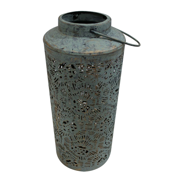 Cutwork Patterned Metal Garden Lantern