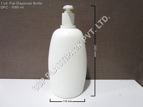 1 ltr Flat Lotion Bottle