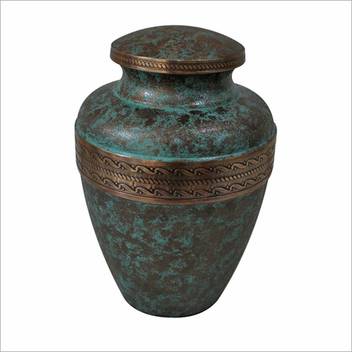 Seafoam Patina finish Cremation Urn