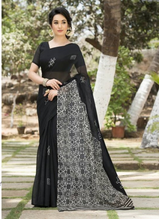 Designer Cotton Silk Saree Buy Online