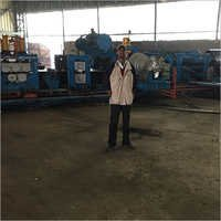 Spiral Pipe Mill Coil Feeding To Pipe Forming