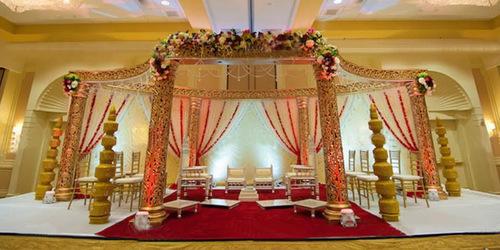 Wedding Golden Mandap