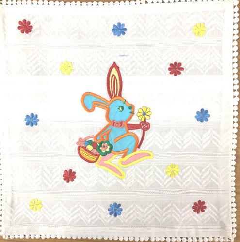 Rabbit Print Kids Cushion Cover