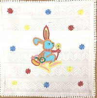 Rabbit Print Kids Cushion Cover