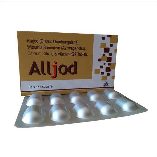 Harjod (Cissus Quadrangularis), Withania Somnifera (Ashwagandha), Calcium Citrate & Vitamin-K27 Tablets