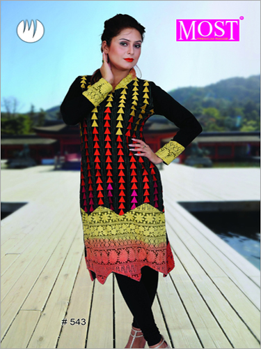 Multicolored Woolen Kurti