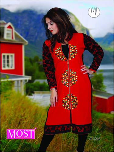 Embroidered Woolen Kurti