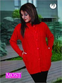Ladies Button Up Cardigan