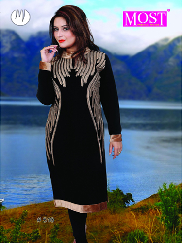Party Wear Woolen Kurti
