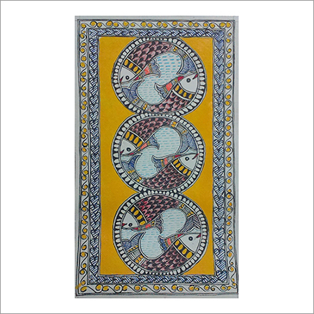 Fish Madhubani Painting