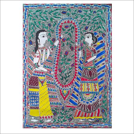Ram Sita Jaimala Madhubani Painting