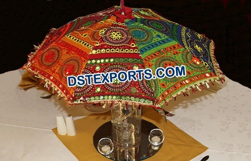 Mehndi Theme, Umbrella Table Centerpieces