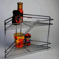 Stainless Steel Corner 2 Shelves