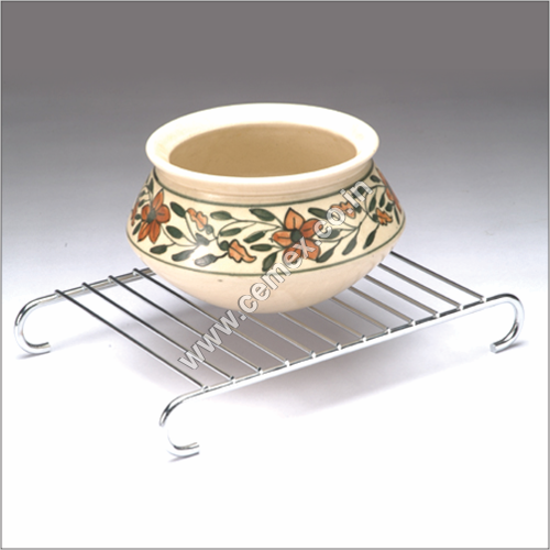 Stainless Steel Grid Pan and Hot Stand