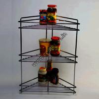 Stainless Steel Kitchen Corner 3 Shelves
