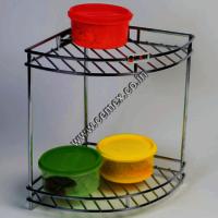 Stainless Steel Kitchen Double Round Corner