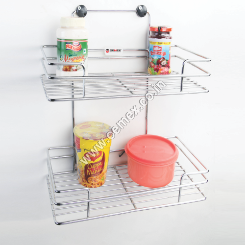 Stainless Steel Kitchen Double Shelves