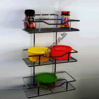 Stainless Steel Kitchen Spice Rack Wall Mounting