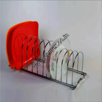 Stainless Steel Kitchen Plate Stand