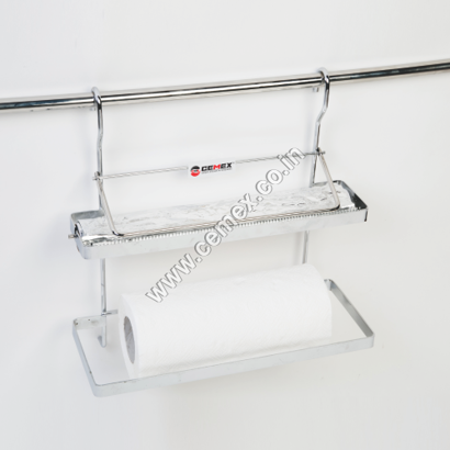 Stainless Steel Paper & Foil Holder With Cutter