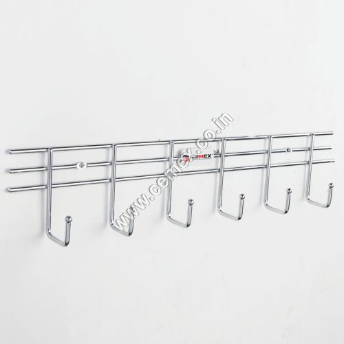 Stainless Steel Bathroom 6 Pin Hanger