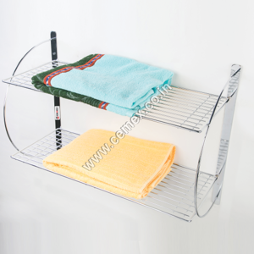 Stainless Steel Bathroom Towel Shelf Double
