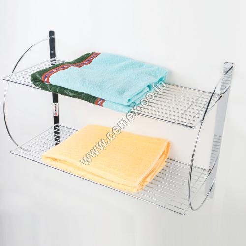 Stainless Steel Towel Double Shelf