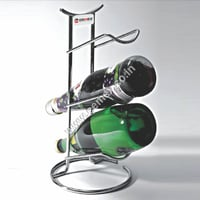 Stainless Steel 3 Bottle Bar Stand