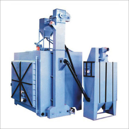 Double Door Shot Blasting Machine