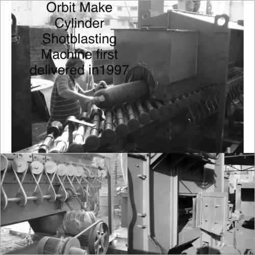 CNG Cylinder Shot Blasting Machine