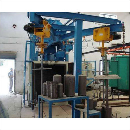 Heavy Duty Shot Blasting Machine upto 3 ton hook capacity with Automatic Hoist