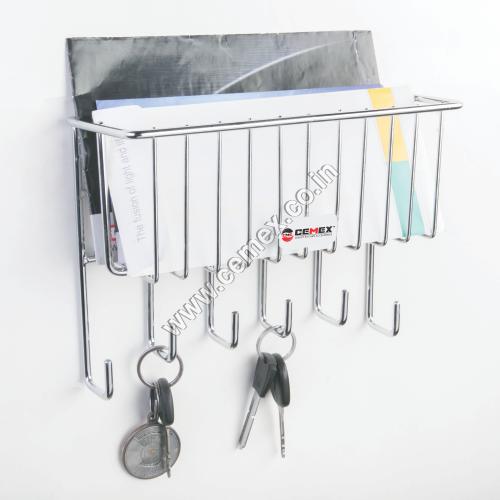 Stainless Steel Key & Letter Holder