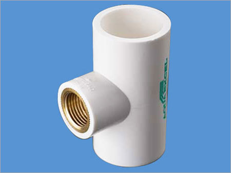 UPVC Brass Threaded White Tee