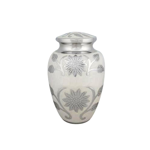 Pearly White Cremation Urn