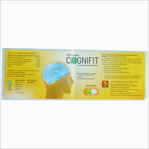 Ayurvedic Medicine Label