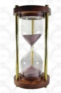 Wood & Brass Marine Sand Timer (5 min)