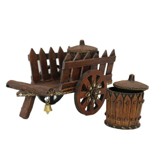 Wooden Cart Dry Fruit Box