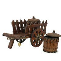 Wooden Cart Dry Fruit Box