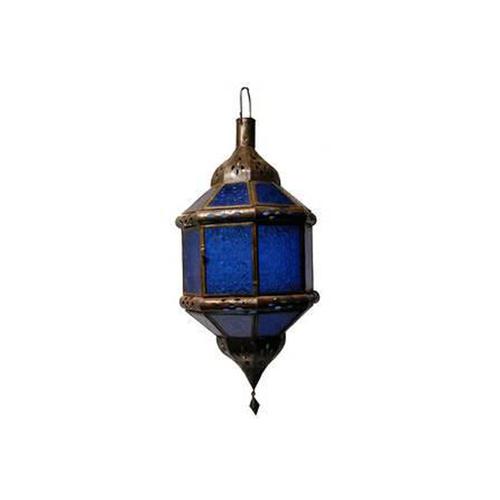Hanging Blue Glass Lantern