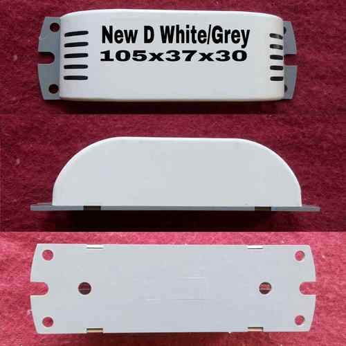 New D White with Grey choke box