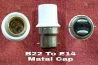 Lamp Adapter B22 To E14 Metal Cap