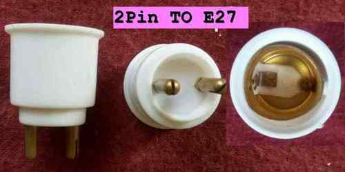 Lamp Converter 2 pin To E27