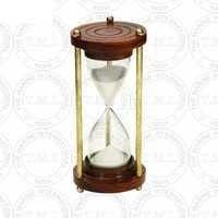 Nautical Wood & Brass Sand Timer (5 Min)