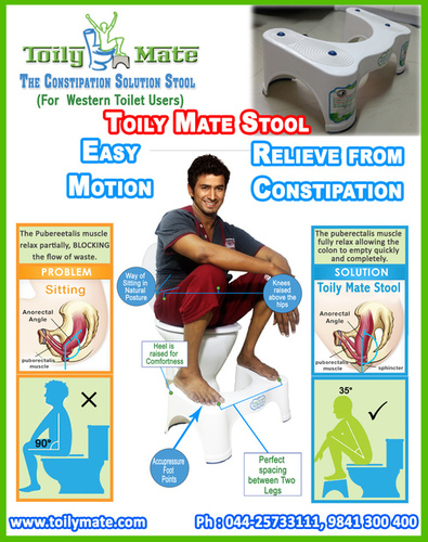 The Constipation Solution Stool for Western Toilet Users