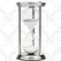 Chrome Nautical Sand Timer (60 Min)