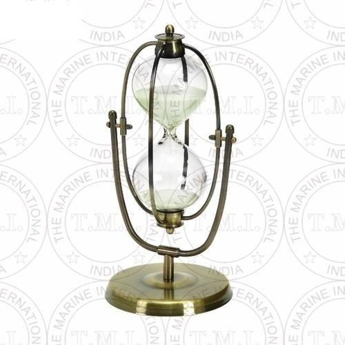 Brass Antique Flip - Over Hourglass Timer (30 Min)
