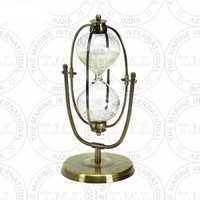 Brass Antique Flip - Over Hourglass Timer (30 Min)