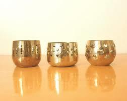 Antique Finish Brass & Copper Candle Cup